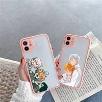 the promised neverland phone case matte transparent for iphone 7 8 11 12 s mini pro x xs xr max plus cover funda