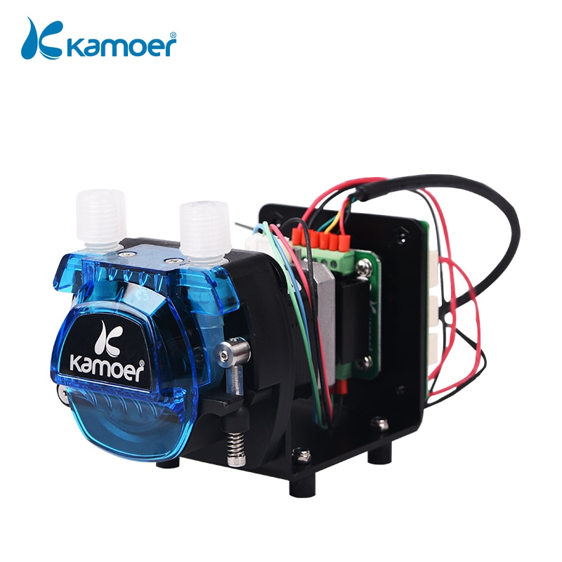 Kamoer KCM-ODM 12V/24V Mini Peristaltic Pump with Small Flow Stepper Motor (13.5~320ml/min, 3/4/6/8 Rotors) for Lab Analysis kamoer kvp04 12v 24v mini diaphragm vaccum pump electric air pump with low flow rate 1 1l min and low noise
