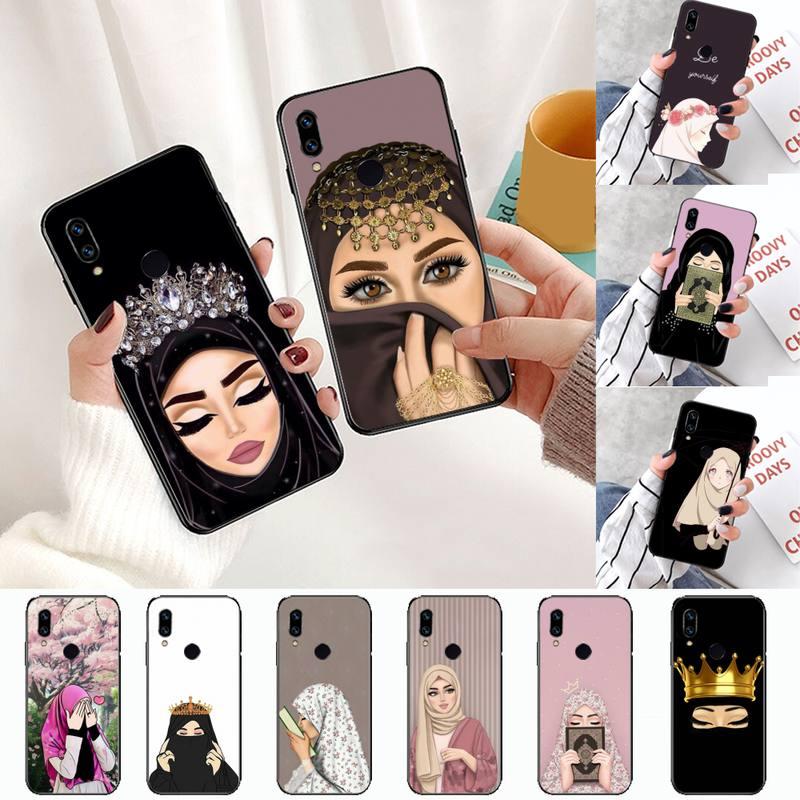 Мусульманский Исламский арабский хиджаб для лица Girl Eyes Koran чехол для телефона Xiaomi Redmi Note 4 4x5 6 7 8 pro S2 PLUS 6A PRO