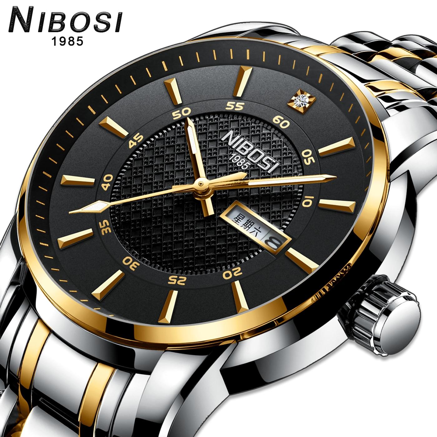 NIBOSI Relogio Masculino Clocks men Quartz wrist watch men's fashion casual watches top Luxury brand dress waterproof wristwatch