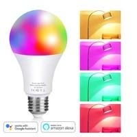 Ampoule LED Wifi RGB  lampe intelligente  multicolore  fonctionne avec Alexa Google Home Assistant