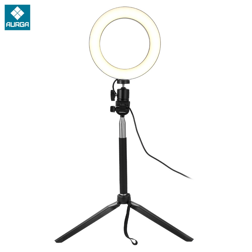 Mini LED Fill Ring Light 6 Inches Tripod Stand Phone Holder Selfie Makeup Live Streaming  Dimmable Ring Light Photography Lamp enlarge