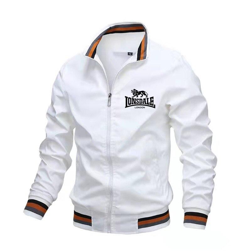 Куртка LONSDALE мужская с принтом, модная ветровка, Бомбер, Повседневная Уличная одежда, 2021