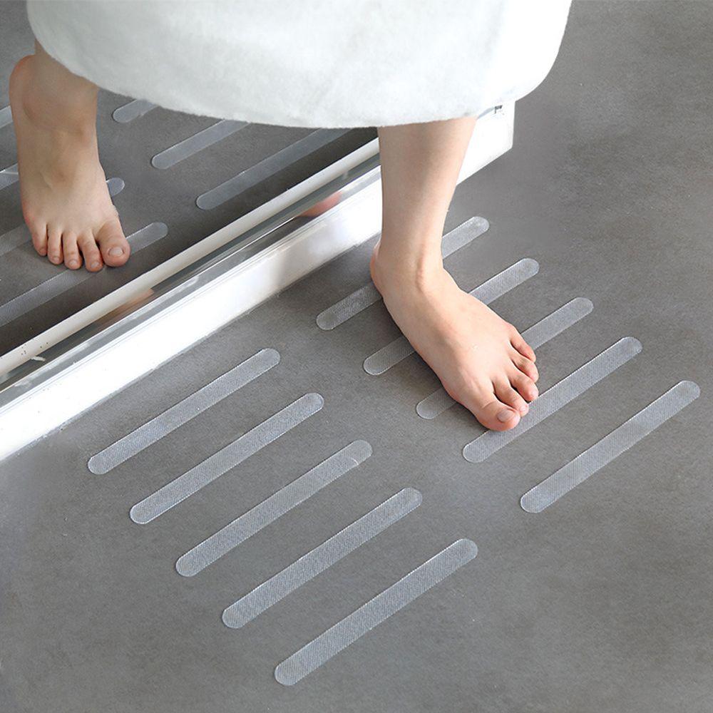 5 uds antideslizante baño Grip pegatinas antideslizantes tiras para ducha cinta de seguridad para pisos alfombra de baño almohadilla antideslizante tiras pegatinas 20x2cm