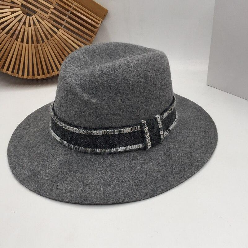 Fedora Panama Estados Unidos sombrero de lana Sir sombrero de bromista británico para mujer tendencia Restauración de antiguas costumbres partido socialite anormalidad