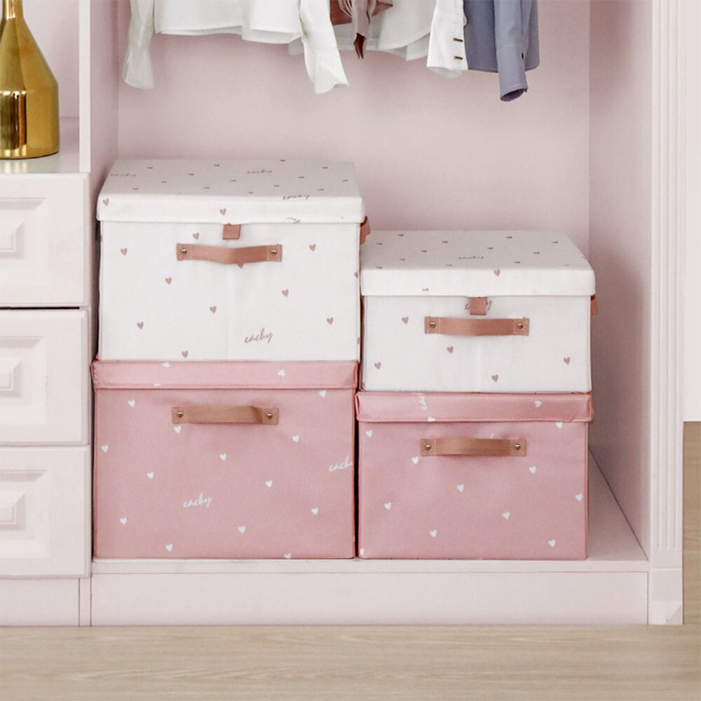 Bonito estilo moderno ferramentas do agregado familiar roupa interior meias caixa organizador de armazenamento para o quarto oxford pano recipiente