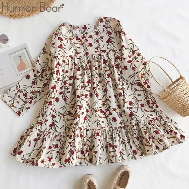 aliexpress.com - Humor Bear Children Clothing Dress New Lovely  Princess Dress Spring Autumn Clothes Printing Flowers Kids Dresses Girls Dress