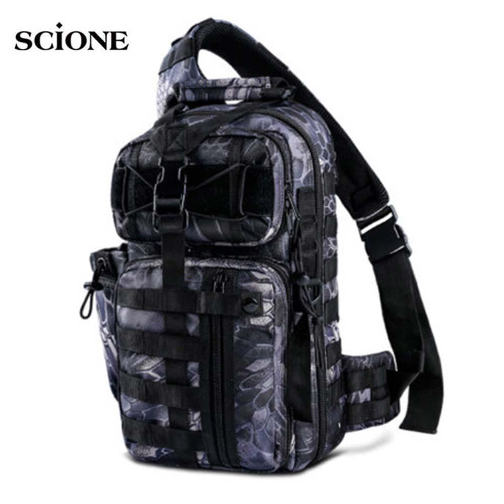 Mochila militar del ejército para hombres Molle, mochila táctica, bolso De viaje De deporte al aire libre, bolsa De Camping, pesca XA764 + WA