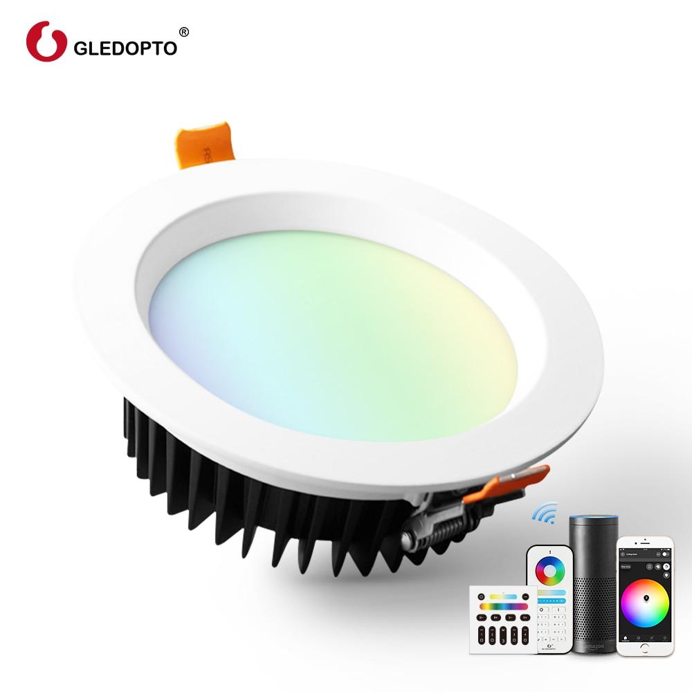 Gledopto زيجبي الذكية عكس الضوء LED مصباح لوح السقف إضاءة هابطة متراجع RGBCCT 12 واط للمطبخ غرفة نوم Toliets إضاءة داخلية