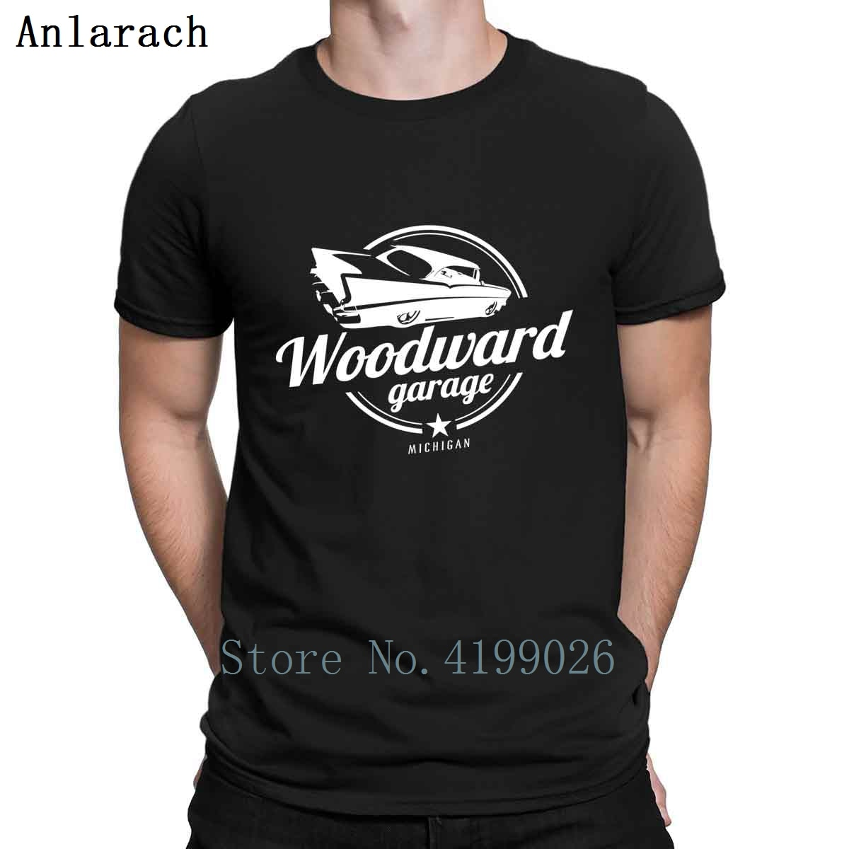 Woodward Cruise 6 camiseta Detroit traje estampado de talla grande 2018 camiseta de moda para hombre tapas divertidas camiseta para hombre