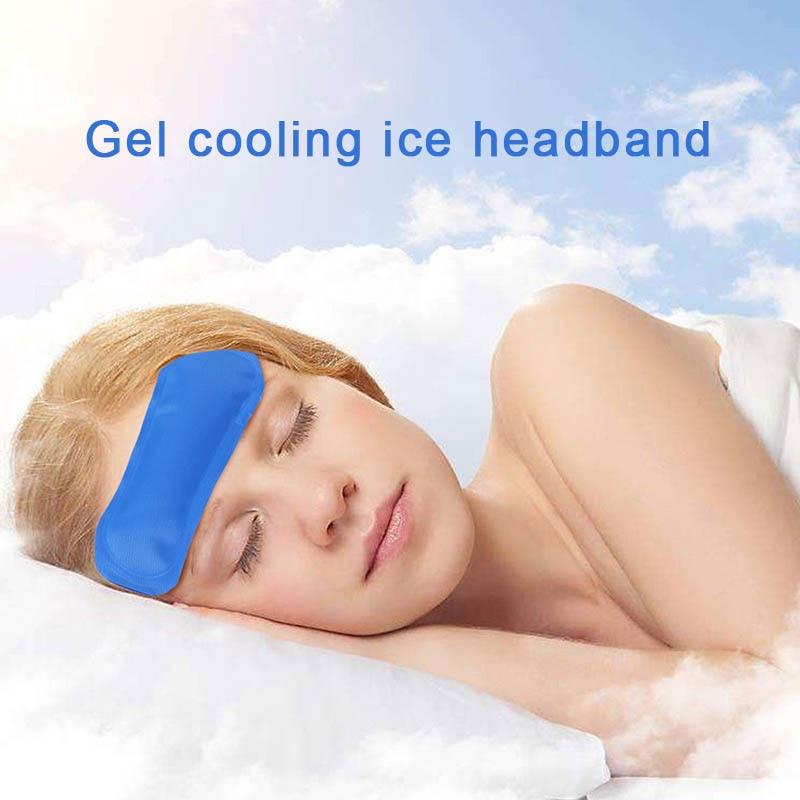 Tiras de enfriamiento para la frente, paquete de hielo Premium para alivio del dolor, cinta para la cabeza, paquetes fríos y calientes, can CSV