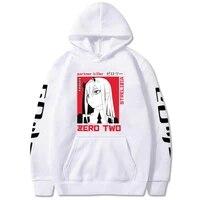 anime darling in the franxx hoodies cosplay zero two print men women sweatshirt oversized loose casual pullovers top 2021