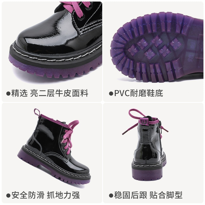 Girls' Martin boots children's boots leather 2020 new autumn and winter children's British wind baby boots enlarge