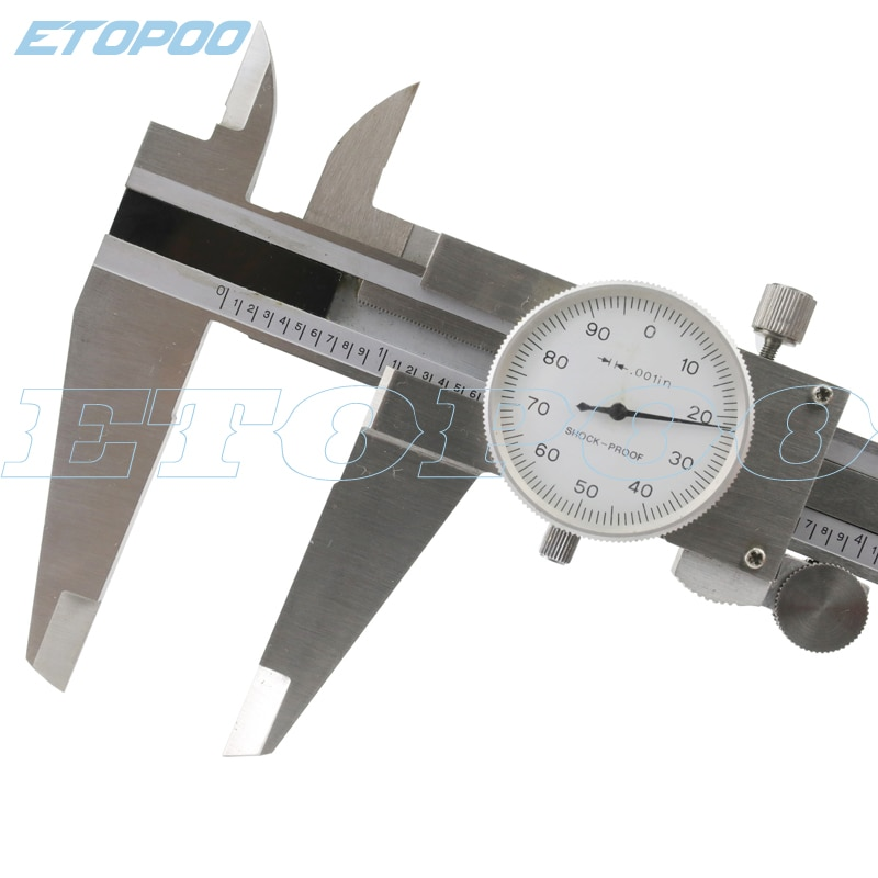 """0-300mm 0,02mm calibrador métrico herramienta de medición Dial Calibre vernier a prueba de golpes 0.001 """"12 pulgadas Dial calibrador micrómetro herramienta de medida"""