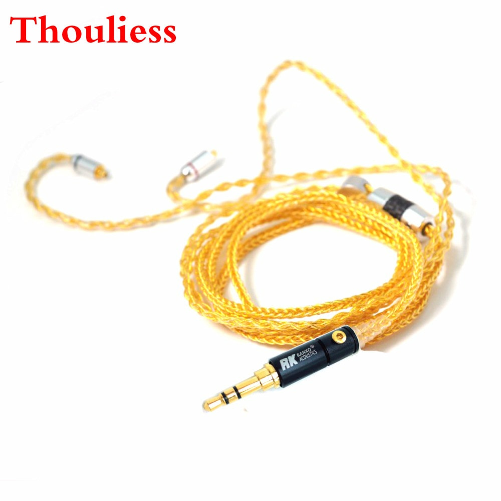 Thouliess Free Shipping 1.2m 8cores  SE846 SE535 SE315 SE215 UE900 Headphone Replacement Audio Cable for DIY Headphone cable