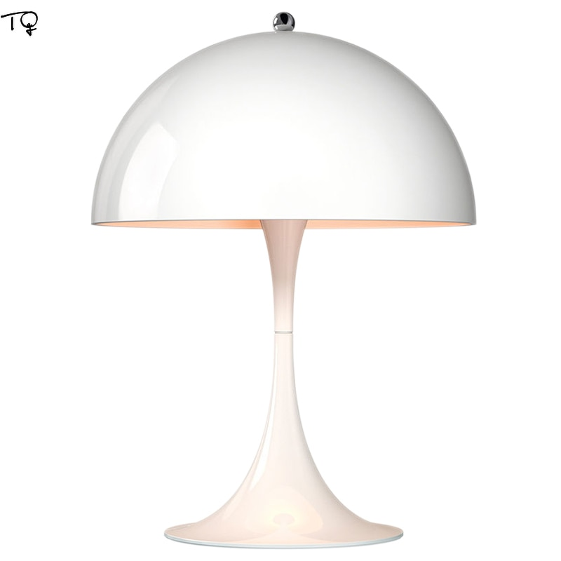 Nordic designer de moda panthella candeeiro mesa led moderno simples branco luzes quarto cabeceira escritório estudo estúdio sala estar