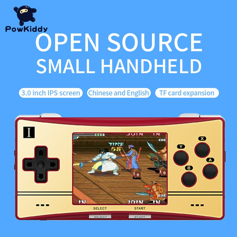 Powkiddy New RG300X Portable Open Source Game Console Retro Nostalgic Handheld Game Device Built in Emulators Arcade Game Player