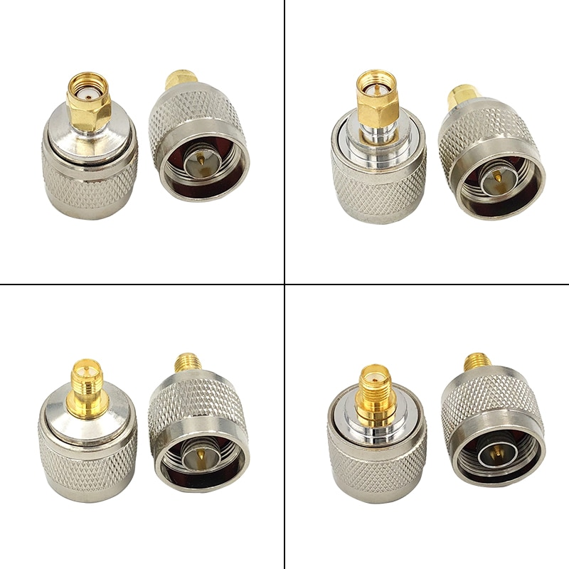 ¿Conector SMA N macho y hembra convertidor de prueba de Adaptador Coaxial...