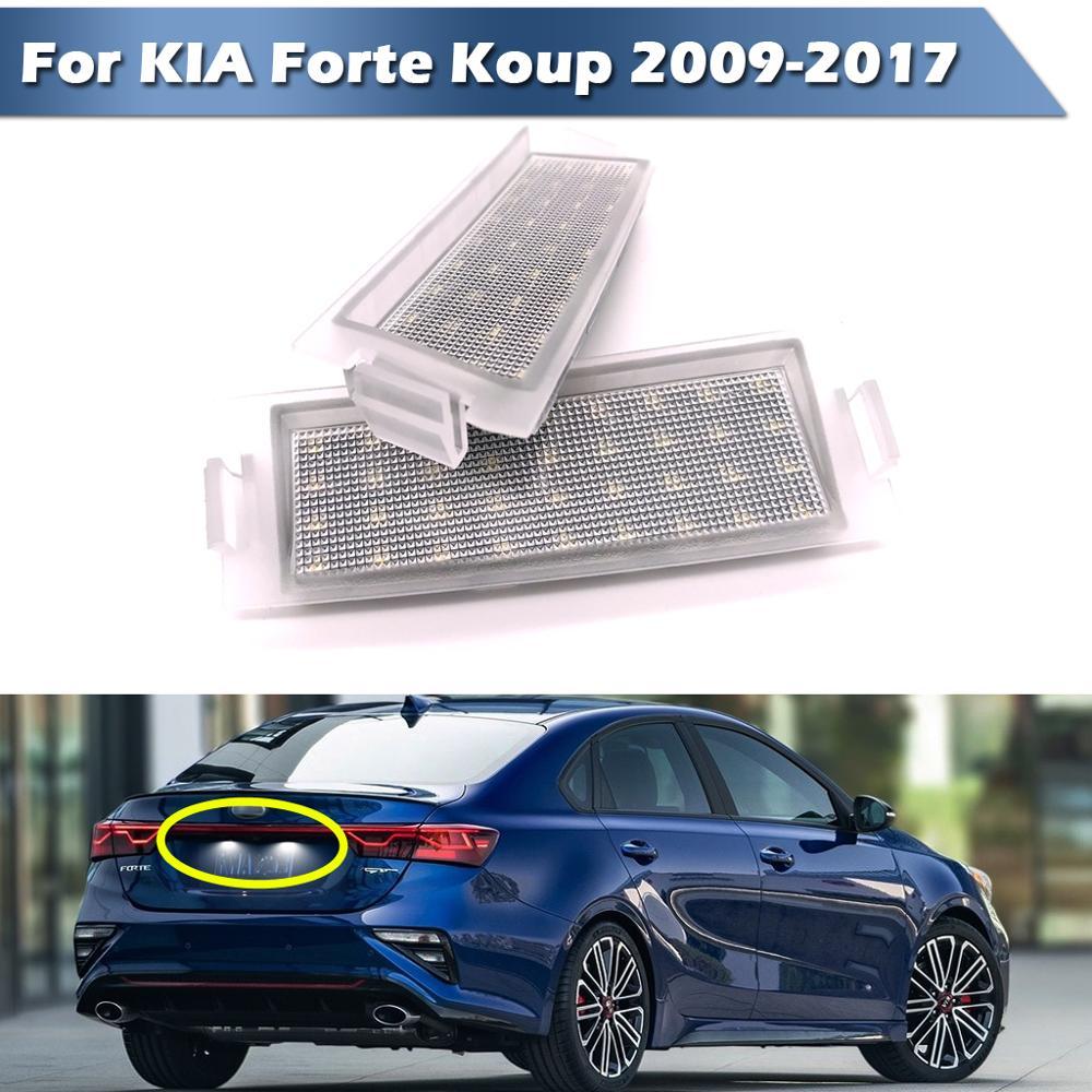 LED License Plate Number Lamp Signal Lights For kia Forte Koup 2009-2017. NOT fit 4-door sedan