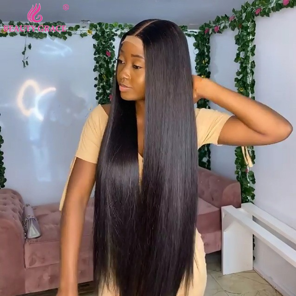 Wholesale 40 Inch Human Hair Wig For Women Transparent Lace Frontal Wigs Straight Lace Front Wigs Brazilian Remy Hair Wig