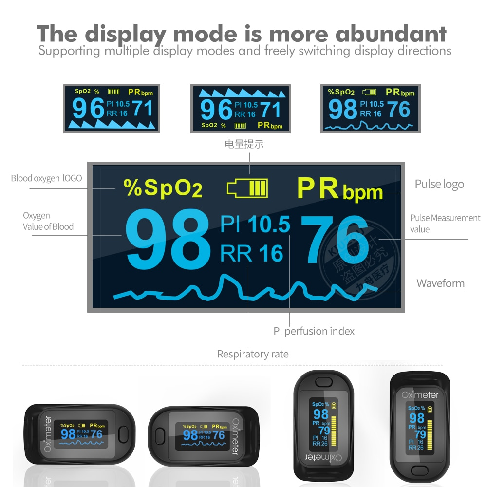 New Medical Household Digital Finger Pulse Oximeter Portable SPO2 PR Heart Rate Blood Oxygen Saturation Monitor health care tool