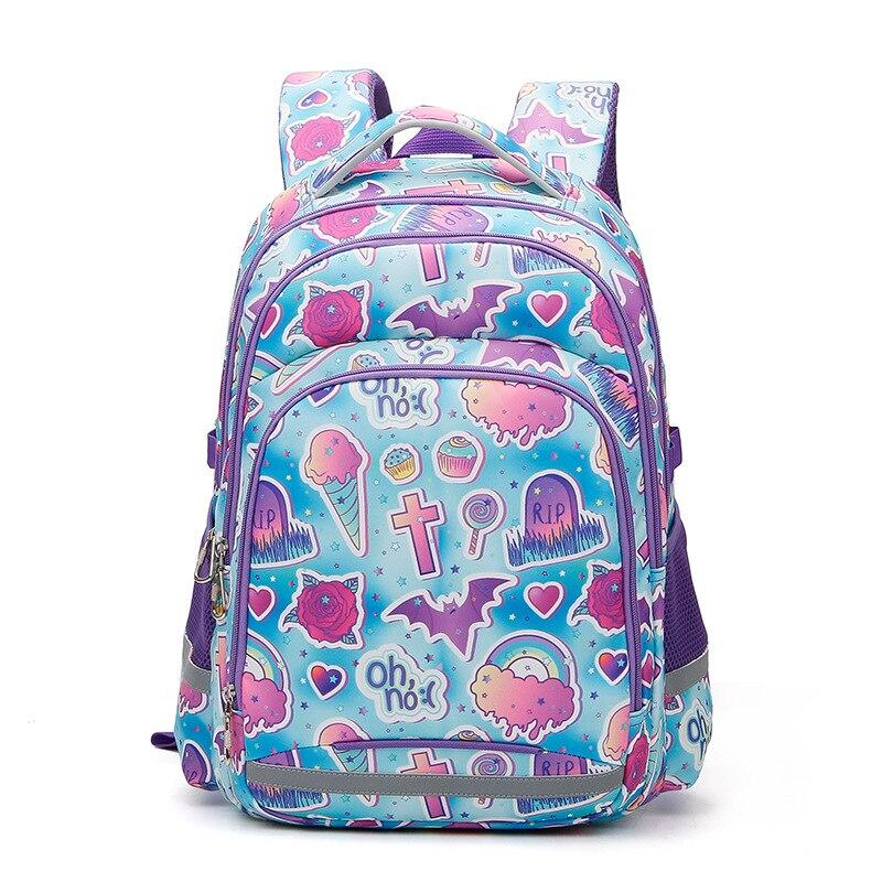 JD13 حقيبة جديدة للأطفال حقيبة ضوء تحميل الحد من قدرة كبيرة مقاوم للماء حقيبة مدرسية شريط عاكس لطلاب المدارس الابتدائية