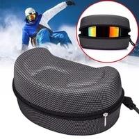 eva protection snow ski goggles case snowboard skiing goggles sunglasses carrying bag zipper hard box holder dropshipping