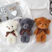 10 шт. 12 см галстук плюшевая игрушка плюшевый мишка кукла кулон брелок PP хлопок мягкая чучела медведей игрушка кукла игрушка подарок