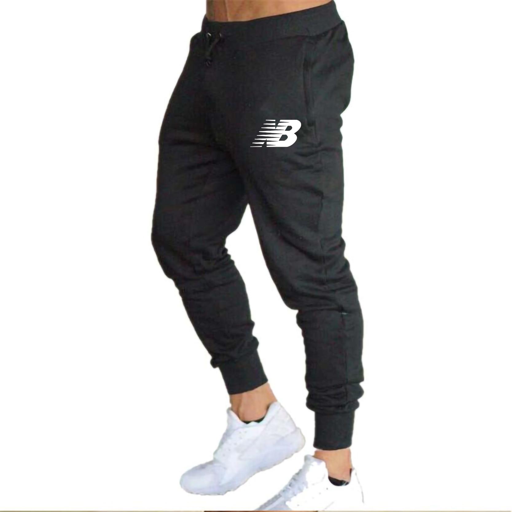 Штаны для бега, мужские тренировочные штаны, штаны для бега, штаны для спортзала, мужские джоггеры, хлопковые тренировочные штаны, облегающи...
