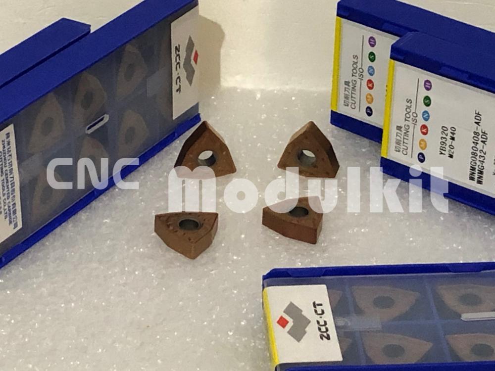 WNMG080408-ADF-YB9320 Acero inoxidable Metal fundido ZCC-CT PVD insertos carburo 10pc CNC molino maquinaria cuchilla herramienta de corte CNC Modulkit