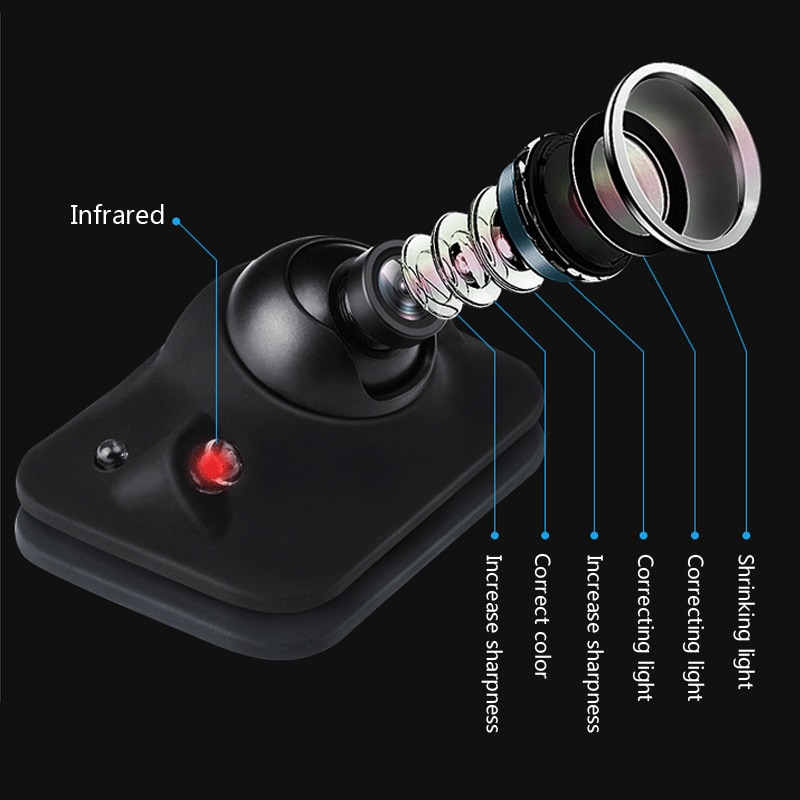 2 luces infrarrojas LED 360 grados CCD HD cámara de visión trasera de coche cámara frontal Vista frontal cámara de seguridad de estacionamiento lateral