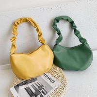 popular fold womens shoulder bag new pu leather underarm bag fashion texture shopping bag luxury design handbags for women 2021
