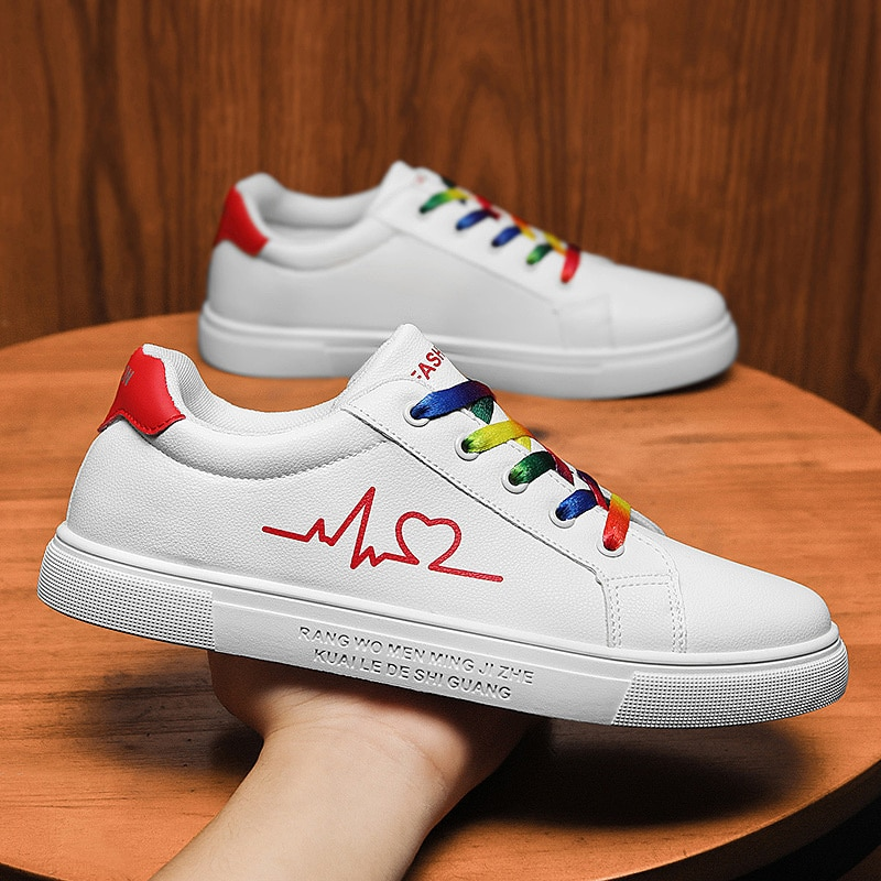 Zapatillas Deportivas informal a La Moda Para Hombre y Mujer De Zapatos Blancos De Suela Baja Calzado De Estudiante De Talla
