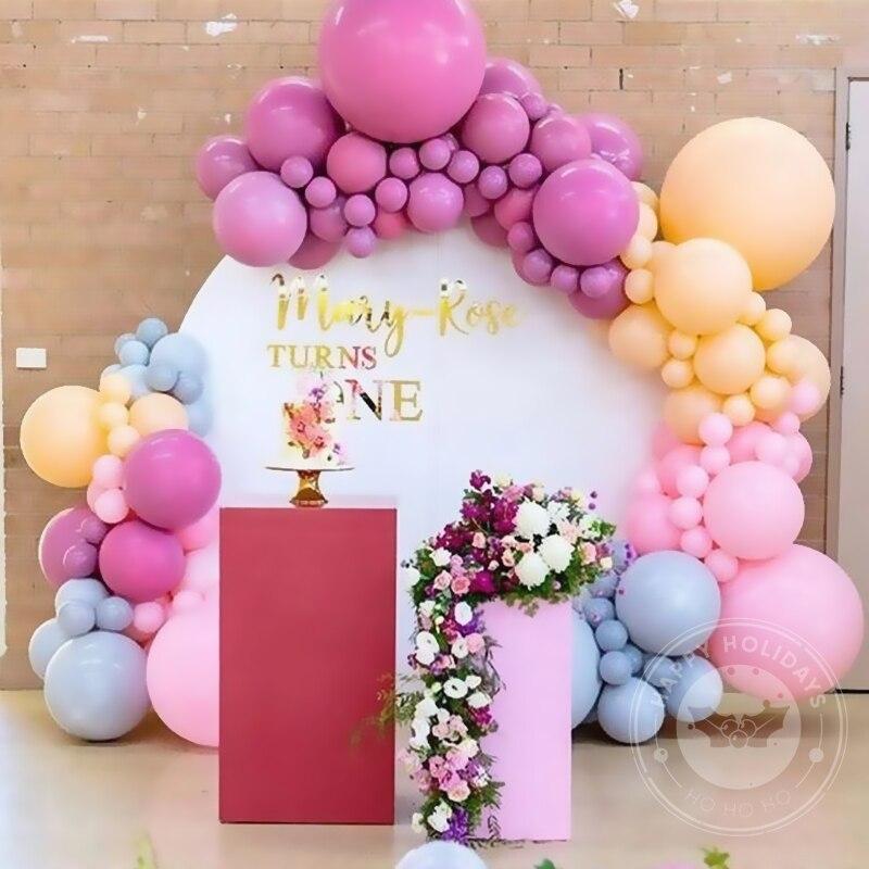 5 10 10 12 12 18 18 36 36 macarmacaron balão guirlanda arco festa evento folha balões weding chuveiro de bebê decoração da festa de aniversário crianças decoração adulto
