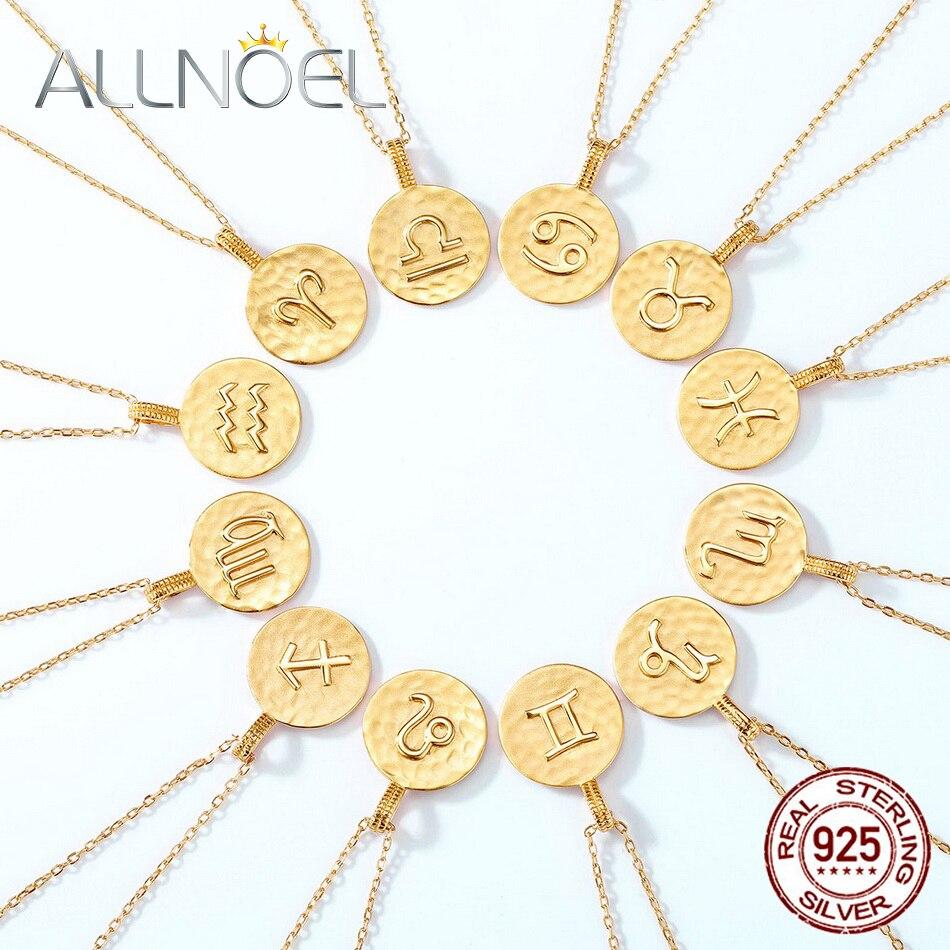 allnoel-твердая-серебряная-подвеска-из-стерлингового-серебра-925-пробы-для-женщин-12-созвездий-настоящая-позолота-унисекс-классические-ювели