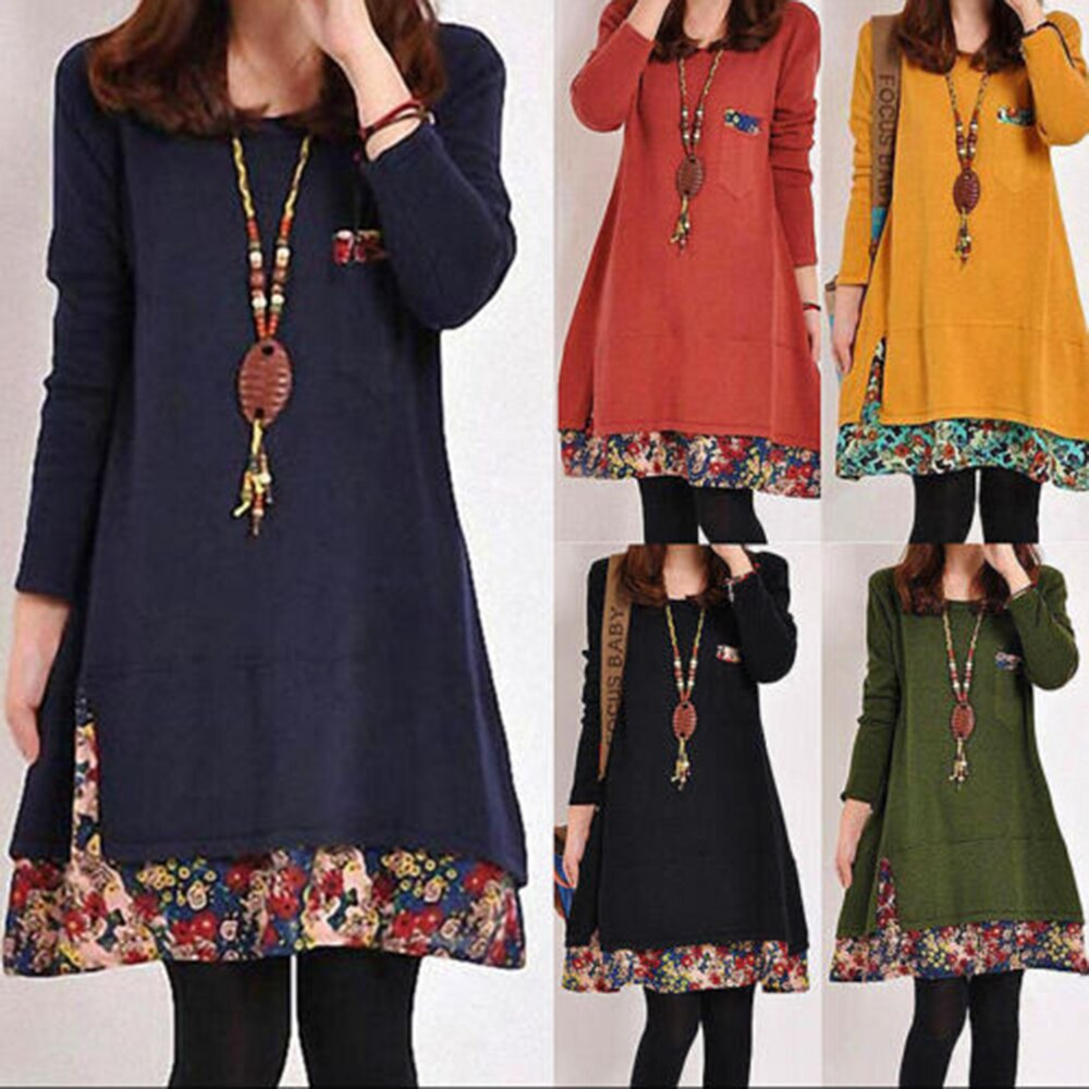 Dress 2021 summer style European and American fashion popular printed long sleeved dress female ins online trend hot sale