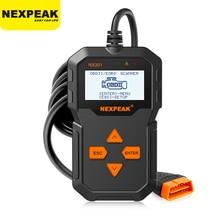Автомобильный сканер NXPEAK NX301 OBD2, считыватель кодов, инструмент для диагностики автомобиля на русском языке PK Elm327