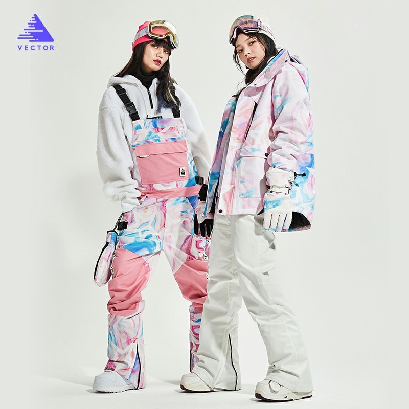 Women Ski Suit Brands Korea Thick Warm Skiing Snow Jacket Winter Warm Waterproof Windproof Skiing and Snowboarding Suits