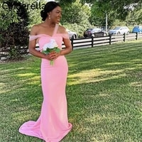 african mermaid bridesmaid dresses with zipper back sweetheart off the shoulder floor length wedding party dresses