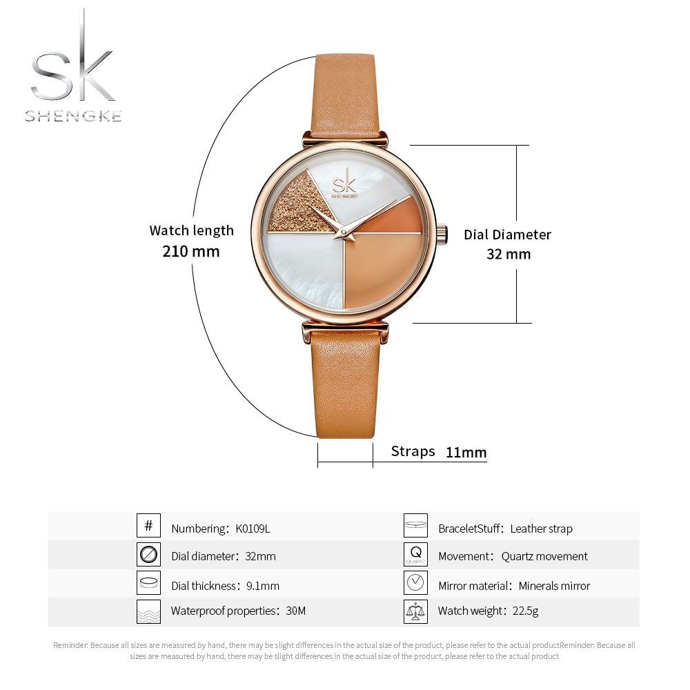 SYNOKE Fashion Women Watch Wristwatch Elegant Design Quartz Ladies Watch Clock Leather Gifts For Women Bayan Kol Saati enlarge