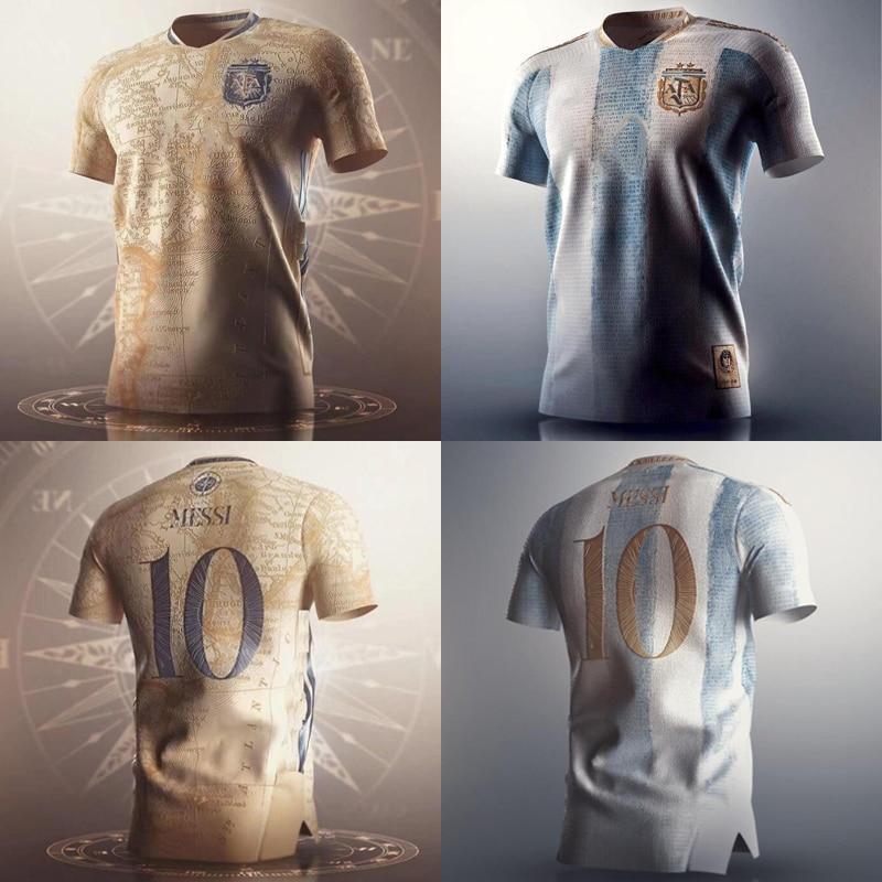 Camiseta da copa do mundo lembrança ¿futebol da argentina messi aniversário camisa...