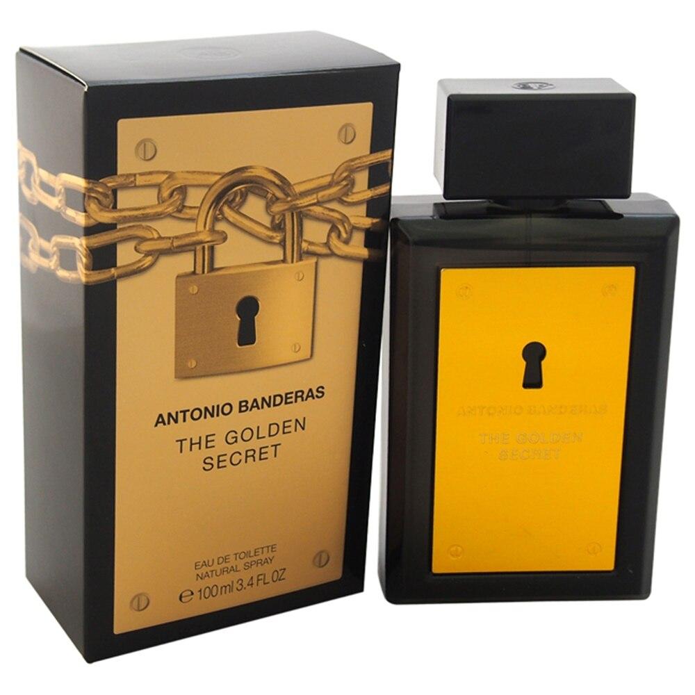 Antonio banderas perfume para homem perfumes de longa duração o segredo dourado flores frutas sabor fragrância-3.4 oz edt spray
