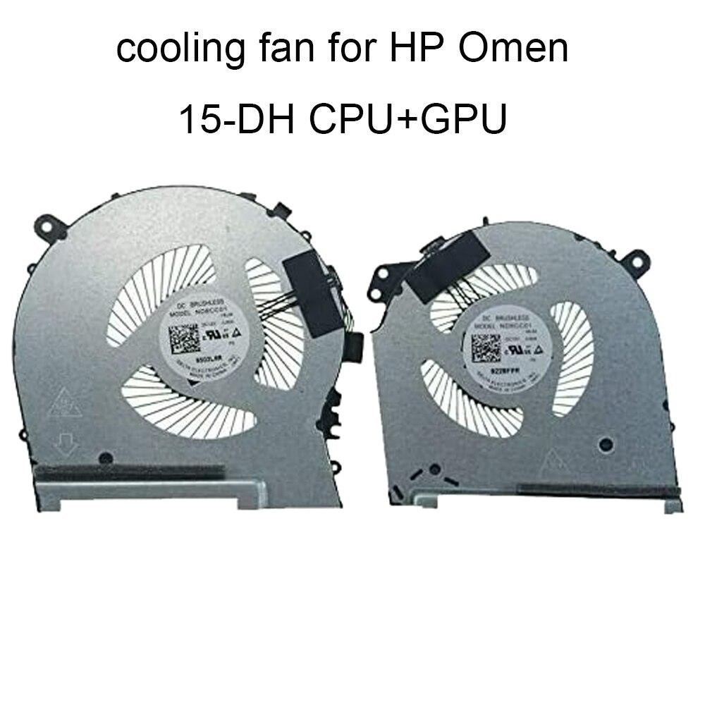 مراوح الكمبيوتر ل HP Omen 15-DH DH002NR 15-DH0015NR TPN-C143 L64443 L57329 001 وحدة المعالجة المركزية وحدة المعالجة المركزية مروحة التبريد المبرد DV12 18L05 06