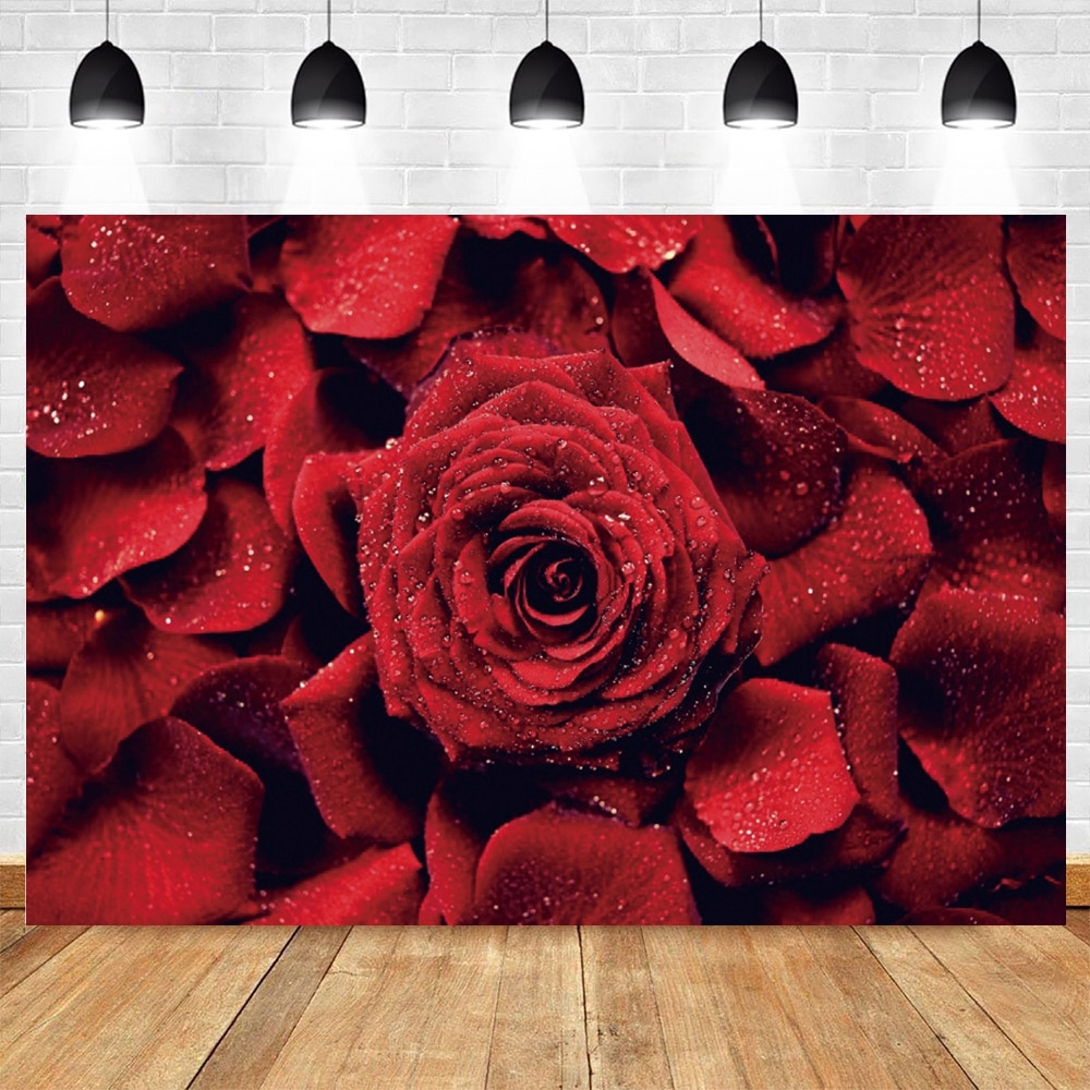yeele photophone for wedding party chic wall flower pattern photography backdrops photographic background for photo studio props Yeele Valentine's Day Rose Flower Wedding Photography Backdrop Vinyl Photographic Background For Photo Studio Photophone Shoot