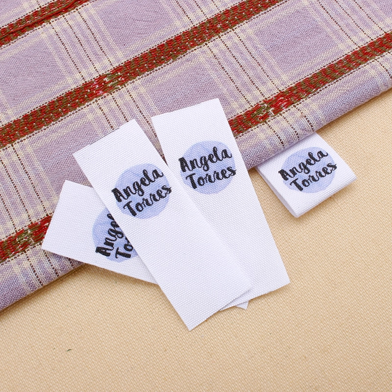 Custom Clothing Labels , Personalized Brand, Cotton printed Tags, Handmade label, Logo or Text, Watercolor Labels  (MD0361)