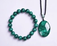 202011 natural malachite bracelet pendant jewelry set anti aging anti oxidant safe necklace women bijoux joyas collares mujer