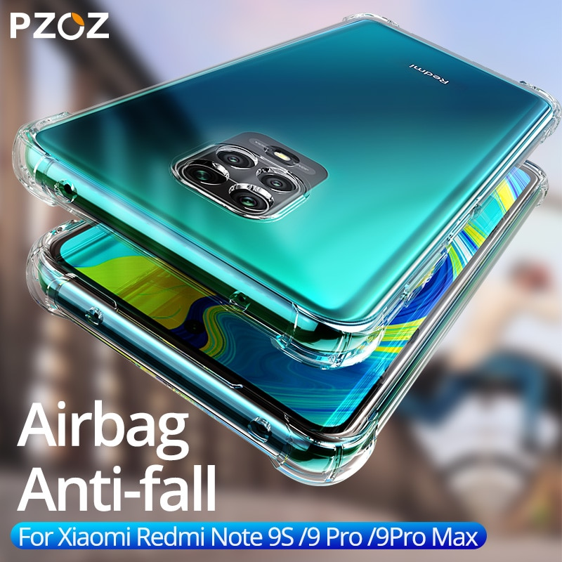 PZOZ para Xiaomi Redmi Nota 9s 9 Pro Max 7 8 8T 7A K20 Mi 9t Nota 10 CC9 Pro A3 caja de protección a prueba de golpes silicona blanda de TPU caso
