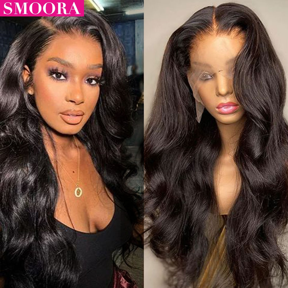 34 Inch 13x4 Body Wave Lace Front Wig Human Hair for Black Women Pre Plucked With Baby Hair Brazilian Remy Hd Lace Frontal Wigs