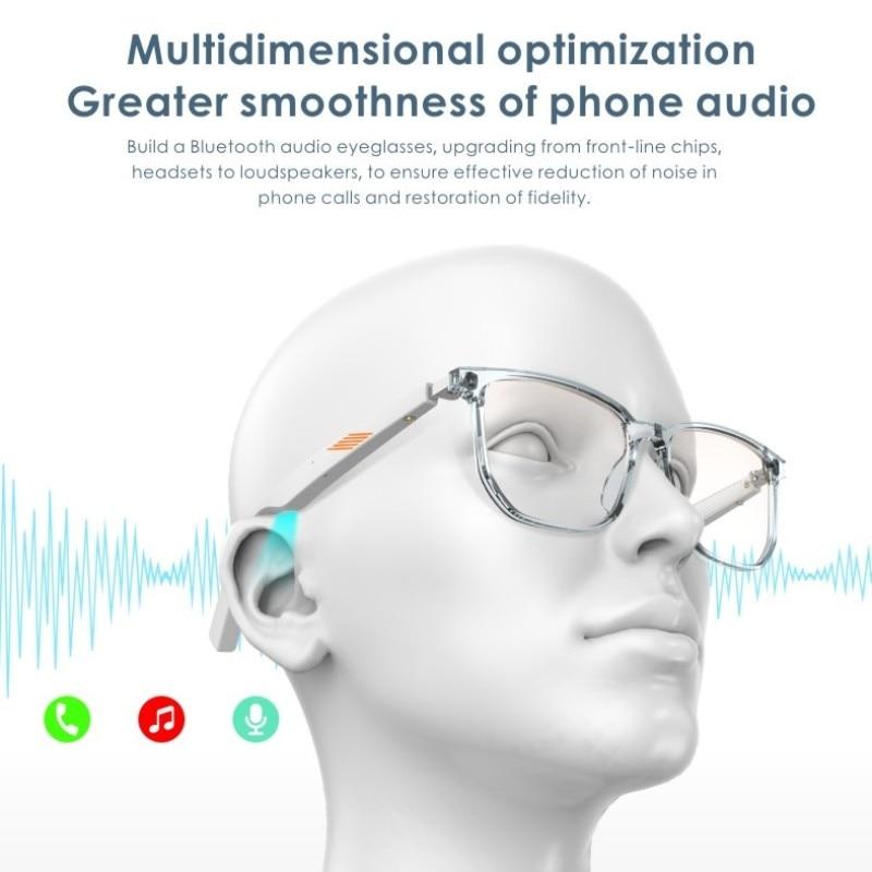 Bluetooth 5.0 smart glasses intelligente  Eyewear TWS music headset can be customized prescription lens photochromic lens enlarge
