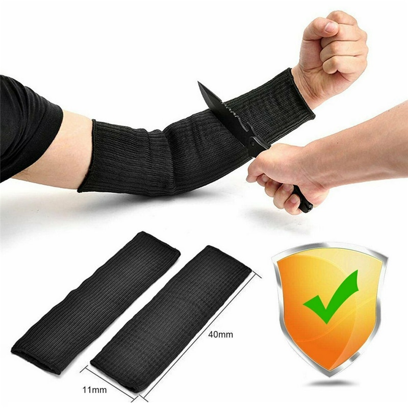 Arm Protection Sleeve Kevlar Arm Pair Anti-cut Burn Safety Kitchen Garden Work Wear-resistant Arm Sleeve Arm Sleeves